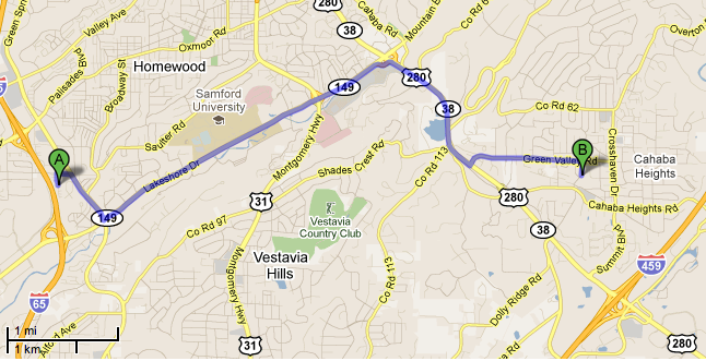 The distance from my apartment to the touchdown of the 5 a.m. tornado. 6 miles